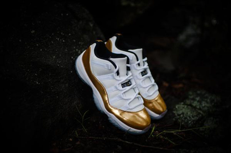 separation shoes 8a906 bdb9c 发售提醒  AIR JORDAN 11 RETRO LOW  WHITE METALLIC GOLD