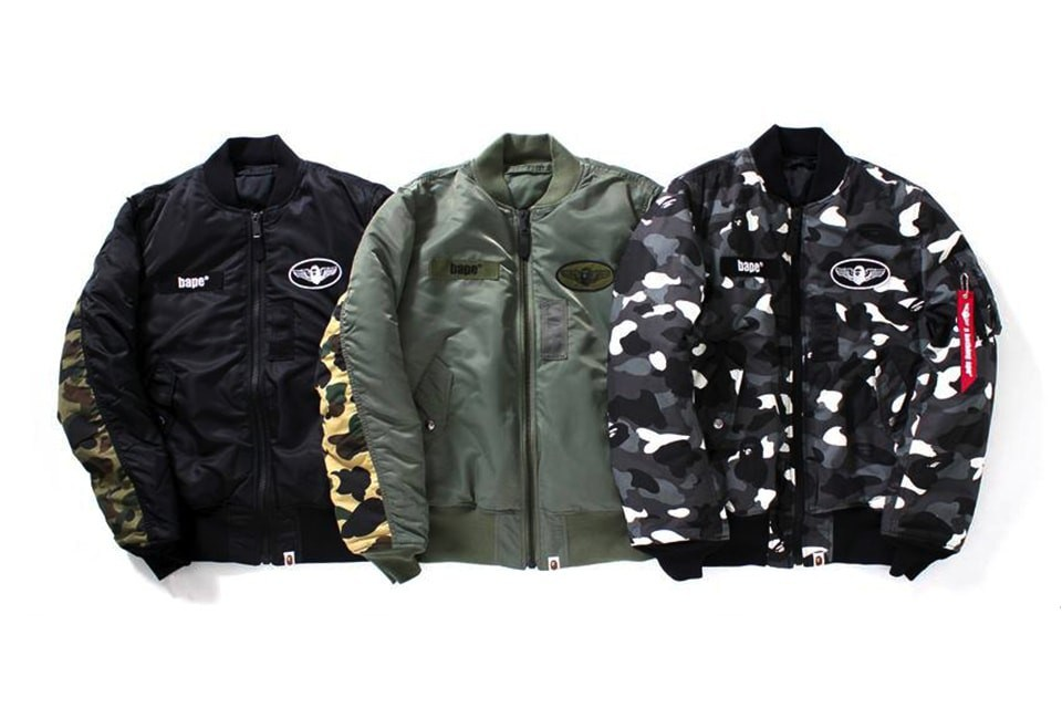 the best attitude c8821 f66d2 A Bathing Ape x Alpha Industries 2016 秋冬联名系列
